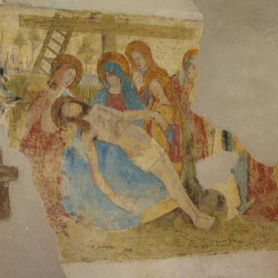 Fresque (La descente de la croix)