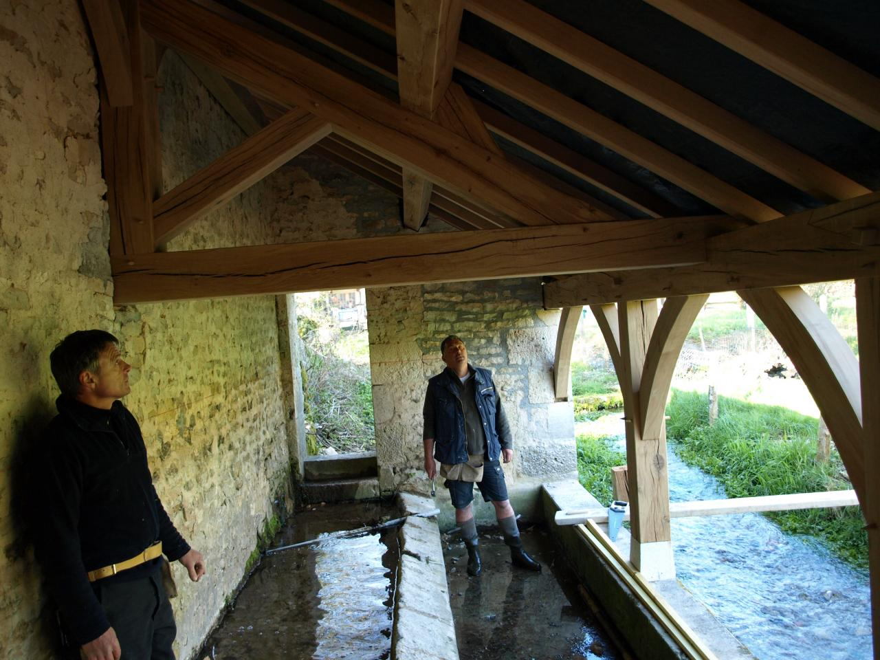 Rénovation du lavoir-avril 2015