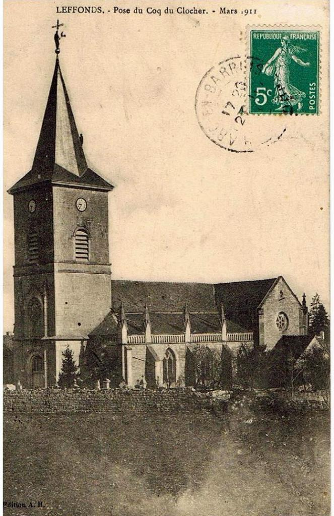 Pose du coq du clocher mars 1911