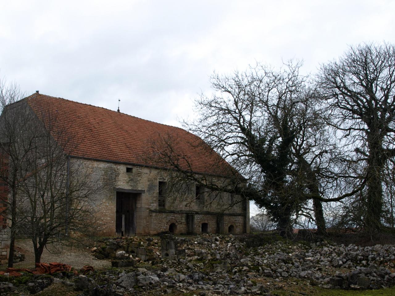 Les vestiges de l'ancienne maison forte(v. 1500)