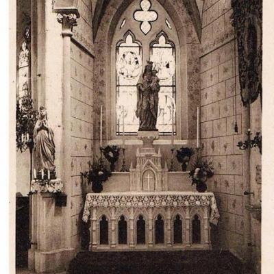 """Autel de la sainte vierge""""église de Leffonds"""""""