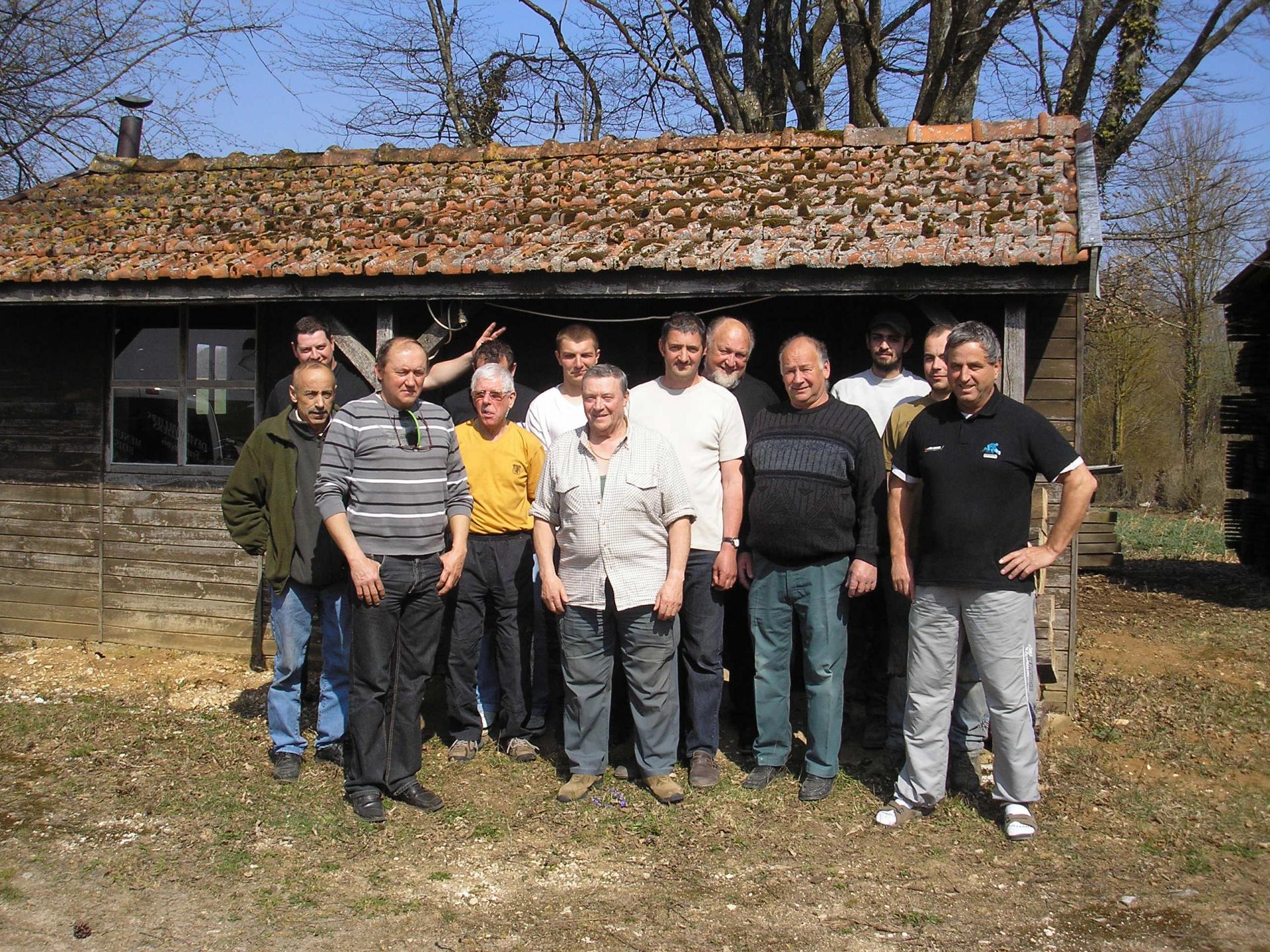 Les chasseurs à la cabane de François en 2012