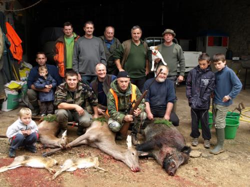 Tableau de chasse en 2012