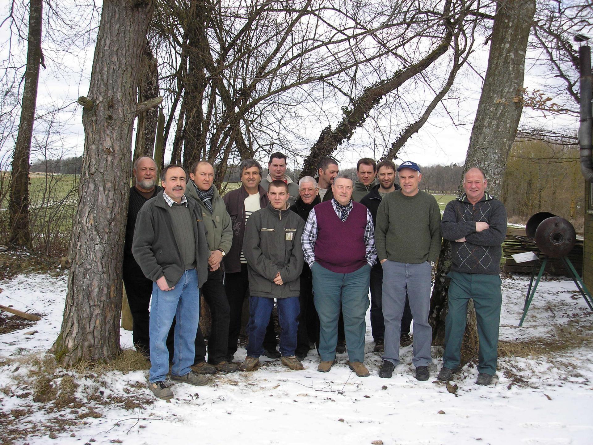 Les chasseurs à la cabane de François en 2010