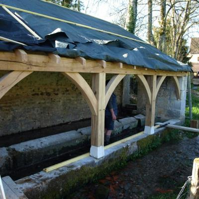 Rénovation du lavoir- avril 2015