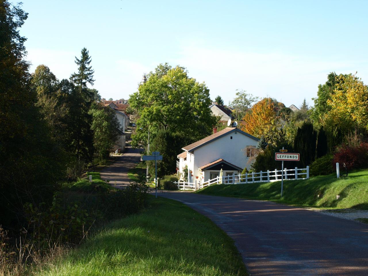 L'entrée route de Marac
