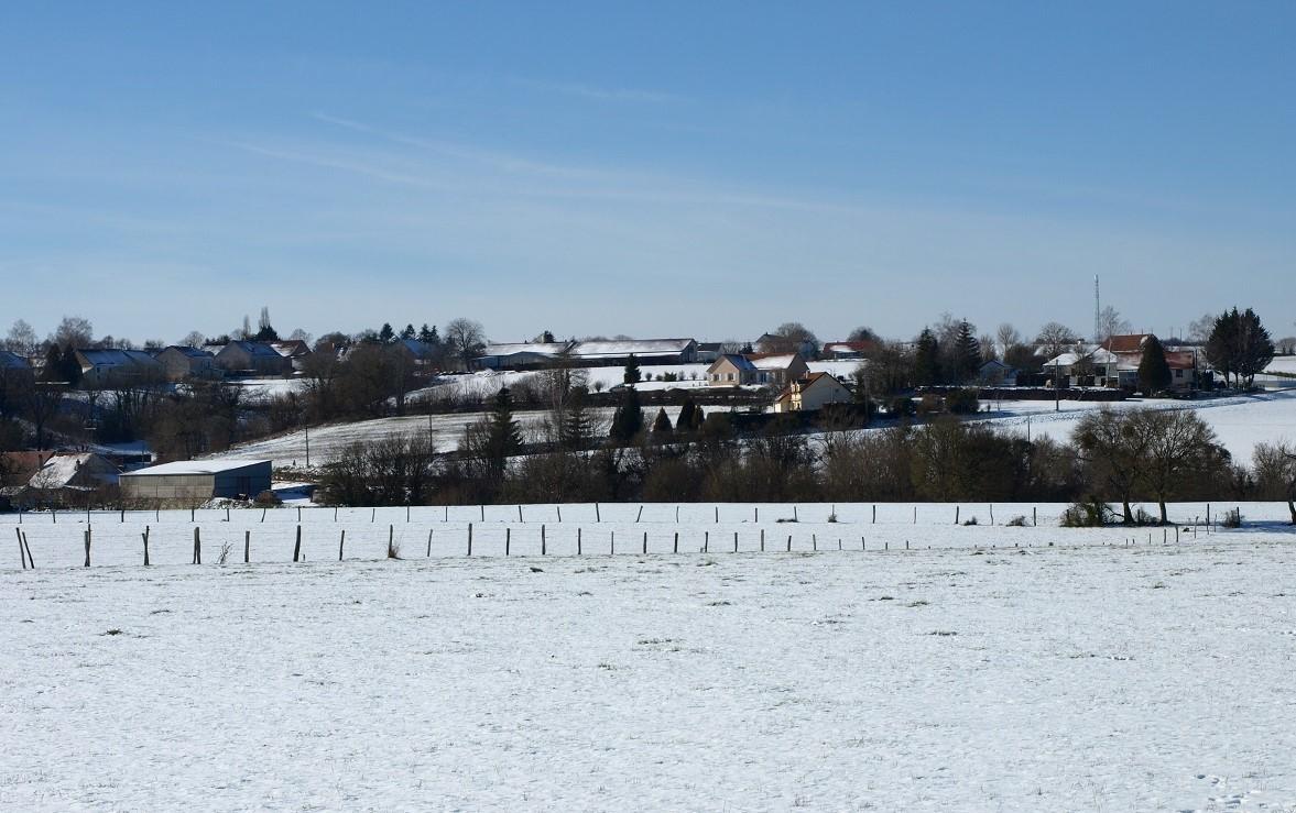 Le village à -12° sous la neige.