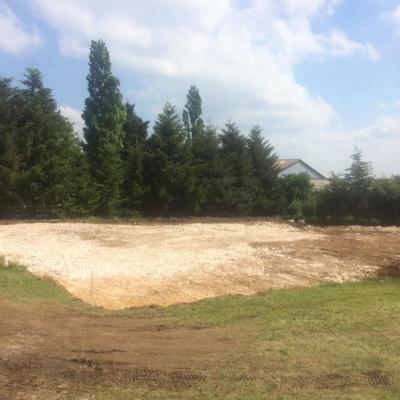 Travaux de terrassement du terrain